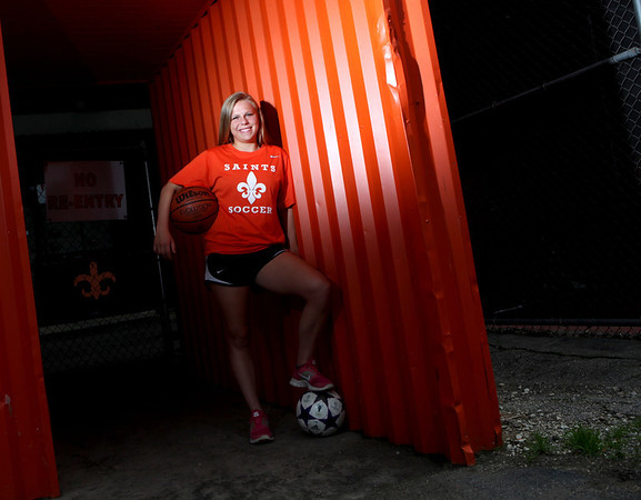 St. Charles East's Amanda Hilton is the Kane County Chronicle Female Athlete of the Year.