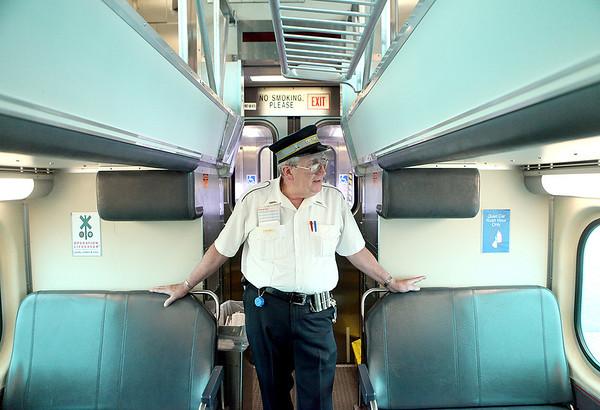 Metra Trainman/Swingman Gordon Bowe works Metra's Union Pacific West line from Elburn to Ogilvie Transportation Center in Chicago.