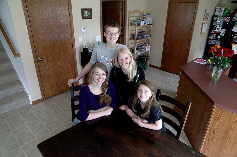 (Clockwise from bottom left) The Murphy children of Elburn; Nora, 16, and an incoming junior at Kaneland High School, Patrick, 14, and an incoming freshman at Kaneland High School, Emily, 11 and an incoming sixth-grader at Kaneland Harter Middle School, and Kara, 9, and an incoming fourth-grader at Blackberry Creek Elementary School all had perfect attendance this past school year at their respective schools.