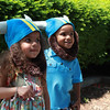 Charlie Naylor (left) and Max Naylor, both 3, from Geneva, pose in their viking hats during the Swedish Days Festival in Downtown Geneva Tuesday.