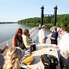 Members of the St. Charles Chamber of Commerce chat on the upper deck of the St. Charles Belle II during the 22nd annual Paddleboat Mixer hosted by Wednesday evening.