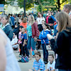 A crowd watches as the band 7th Heaven performs on the main stage during the Swedish Days Festival Tuesday evening in Geneva.
