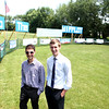 Batavia High School senior Andrew Martinez (left) and recent Batavia graduate Ryan Pawlawski have organized a Wiffle ball league and created a field adjacent to Pawlawski's home.