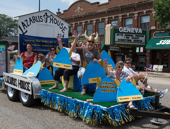 The Lazarus House of St. Charles Float at The 64th Annual Swedish Days Parade in Geneva, IL on Sunday, June 23, 2013 (Sean King for Shaw Media)