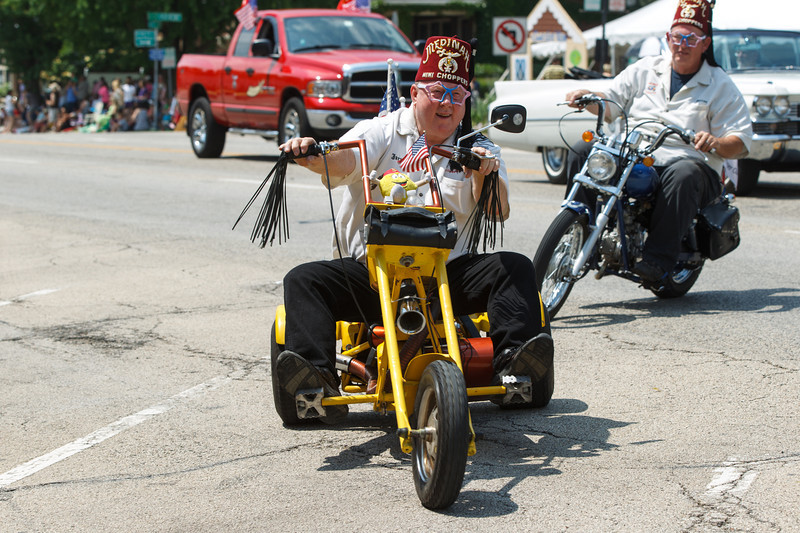 Medinah Shriners Member riding a three wheel bike during The 64th Annual Swedish Days Parade in Geneva, IL on Sunday, June 23, 2013 (Sean King for Shaw Media)