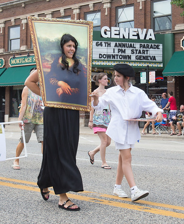 Members of the Greater Geneva art guild walk in The 64th Annual Swedish Days Parade in Geneva, IL on Sunday, June 23, 2013 (Sean King for Shaw Media)