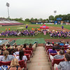 Cancer survivors sit on the field during the start of the 2013 relay for life at Fifth Third Bank Ballpark in Geneva, IL on Friday, June 21, 2013 (Sean King for Shaw Media)