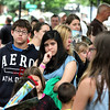 Fans of Radio Disney star Shealeigh wait for the beginning of her meet and greet session after her performance on the Center Stage as a part of Geneva's annual Swedish Days Festival on Friday. Shealeigh signed autographs for fans, and posed for pictures as well.
