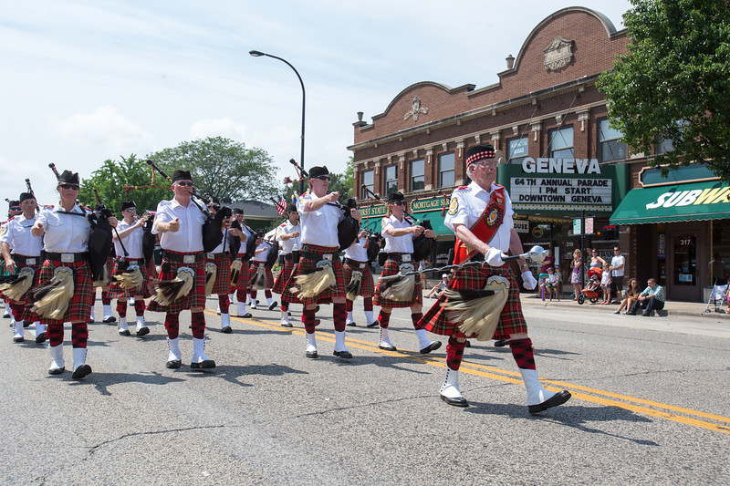 The Chicago Highlanders of Glenview perform during The 64th Annual Swedish Days Parade in Geneva, IL on Sunday, June 23, 2013 (Sean King for Shaw Media)