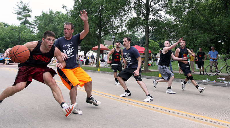 Jeff Krage – For Shaw Media<br /> The Geneva Park District's 3-on-3 basketball tournament was part of Saturday's Swedish Days. <br /> Geneva 6/22/13