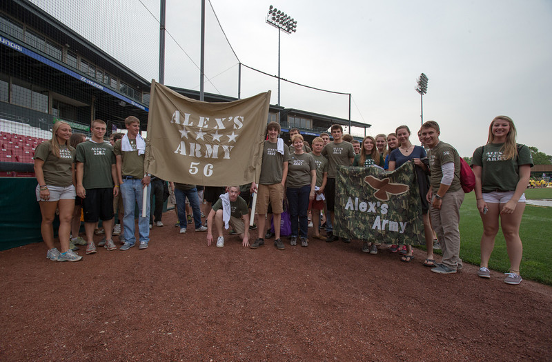 Team Alex's Army show their colors during the 2013 relay for life at Fifth Third Bank Ballpark in Geneva, IL on Friday, June 21, 2013 (Sean King for Shaw Media)