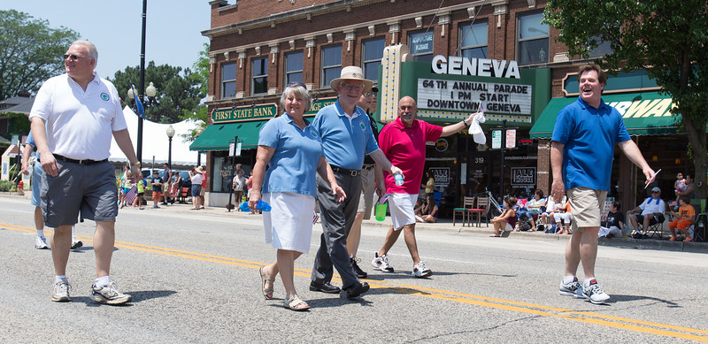 Geneva Mayor Kevin R. Burns Marches during The 64th Annual Swedish Days Parade in Geneva, IL on Sunday, June 23, 2013 (Sean King for Shaw Media)