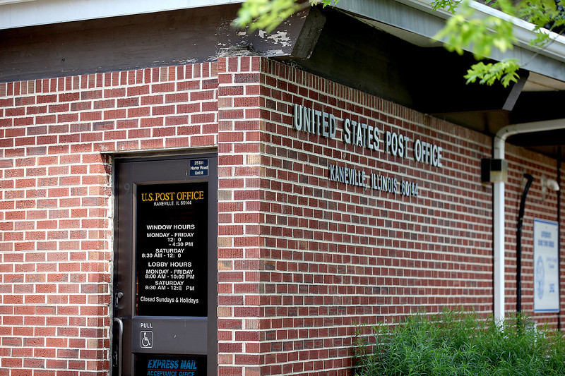 The window hours at the Kaneville Post Office recently were cut, with window service provided from noon to 4:30 p.m. Monday through Friday and 8:30 a.m. to noon Saturday. Some in Kaneville worry that the post office eventually might be closed, but postal officials say they have no plans to close the office.