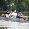 Members of the St. Charles Rowing Club, including (from right) Gordon O'Brien, 17, William Walker, 14, Sarah Konopacki, 16, Nat Blume, 17, and Maddie Paliganoff, 16,train on the Fox River near Ferson Creek Park in St. Charles.