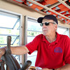 Rich Anderson captains the St. Charles Belle II paddleboat on the Fox River.