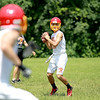 Batavia's Micah Coffey throws the ball during a game against New Trier in the Red Grange Classic 7-on-7 Tournament Challenge Thursday at Wheaton Warrenville South High School.