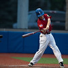 St. Charles Post 342's Luke Johansmeier (2) smacks a grounder against Wheaton at American Legion Baseball Field in Wheaton, IL on Tuesday, June 25, 2013 (Sean King for Shaw Media)