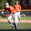 St. Charles East pitcher Kyle Cook throws to home for an unsuccessful out during their 1-0 loss to Lyons Township in a Phil Lawlor baseball tournament game at Benedictine University in Lisle Wednesday.