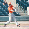 St. Charles East's Mike Candre makes contact during their 1-0 loss to Lyons Township in a Phil Lawlor baseball tournament game at Benedictine University in Lisle Wednesday.