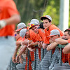 St. Charles East players watch from the dugout during their 1-0 loss to Lyons Township in a Phil Lawlor baseball tournament game at Benedictine University in Lisle Wednesday.