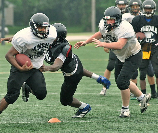 Hinsdale South football minicamp