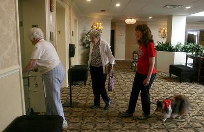 Rico Suave, therapy dogs visit Lexington Square