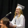 Kaneland High School graduate and Class President Emily Laudont speaks to the class of 2014 during the school's commencement ceremony at NIU Convocation Center in DeKalb, IL on Sunday, June 01, 2014 (Sean King for Shaw Media)