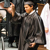 Kaneland High School graduate Juan C. Delgado acknowledges family and friends in the stands during the school's commencement ceremony at NIU Convocation Center in DeKalb, IL on Sunday, June 01, 2014 (Sean King for Shaw Media)
