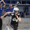 Jeff Krage – For Shaw Media<br /> Kaneland's Paige Kuefler had a two-run, game-tying double to right field in the top of the 7th inning during Saturday's IHSA class 3A regional championship at Burlington Central. It was part of a three run inning for the Knights. Kueffler also picked up two RBI in the third inning. The Knights allowed a run in the bottom of the 7th inning and lost 6-5.<br /> Burlington 5/31/14