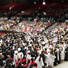 Kaneland High School graduates toss their caps in the air during the school's commencement ceremony at NIU Convocation Center in DeKalb, IL on Sunday, June 01, 2014 (Sean King for Shaw Media)