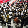 The Kandland High School Band under the direction of Aaron Puckett plays a Prelude during the school's commencement ceremony at NIU Convocation Center in DeKalb, IL on Sunday, June 01, 2014 (Sean King for Shaw Media)