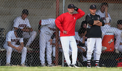 Huntley players hang their heads on the bench as they trail Prairie Ridge in the 7th inning of their IHSA Class 4A McHenry Sectional game at Peterson Park Wednesday, June 4, 2014 in McHenry, Ill. The Wolves won the game 5-1.  John Konstantaras photo for the Northwest Herald