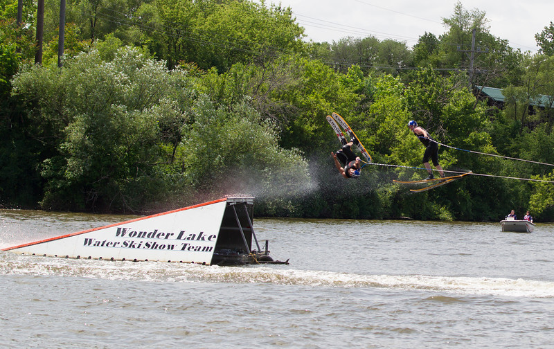 Members of the Wonder Lake National Championship Ski Team perform during The St. Charles River Fest at Pottawatomie Park in St.Charles, IL on Sunday, June 08, 2014 (Sean King for Shaw Media)