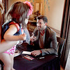 Dancing with the Stars professional dancer Maksim Chmerkovskiy greets Kelly Nelms and her 8-month-old daughter, Lola, at Aliano's in Batavia for an exclusive trunk showing of his line of men's jewelry Friday.