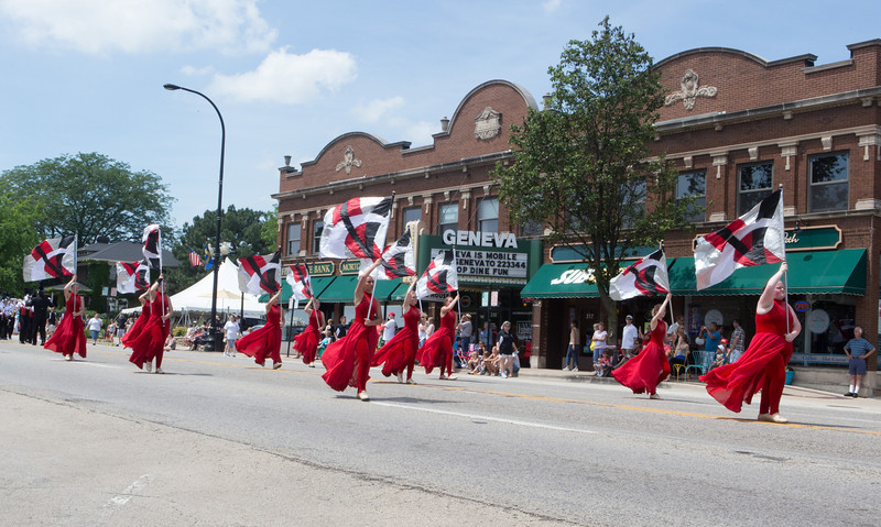 Band of the BlackWatch from Kenosha WI, perform for the crowd during The Swedish Days Parade in Geneva, IL on Sunday, June 22, 2014 (Sean King for Shaw Media)