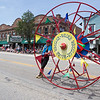 The Wacky Wheeler from Madison, WI performs for the crowd during The Swedish Days Parade in Geneva, IL on Sunday, June 22, 2014 (Sean King for Shaw Media)