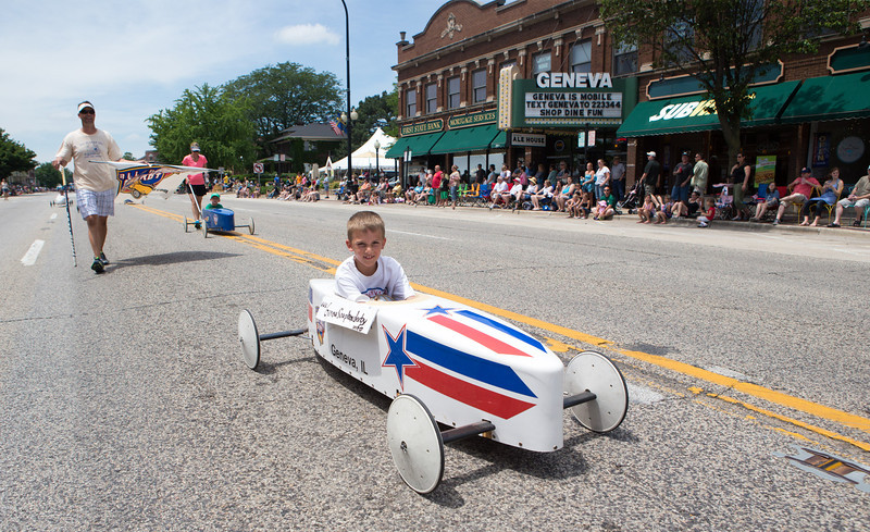 Members of the Geneva All Amercian Soap Box Derby participated in The Swedish Days Parade in Geneva, IL on Sunday, June 22, 2014 (Sean King for Shaw Media)