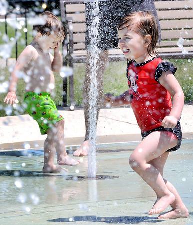 Fun at the Hobson Corner Park Splash Pad in Woodridge