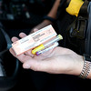Officer Andy Oparyk of the Campton Hills Police Department shows a dose of Narcan, the substance first responders can use on victims suspected of overdosing on drugs.(Sandy Bressner photo)