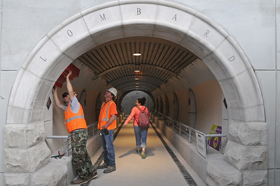 Lombard Metra underpass open