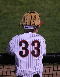 Sarah Nader - snader@shawmedia.com Huntley's Jordan Goldstein watches the end of the game during Monday's Class 4A  Supersectional final against Mundelein at Boomers Stadium in Schaumburg June 6, 2016. Mundelein won, 8-0.