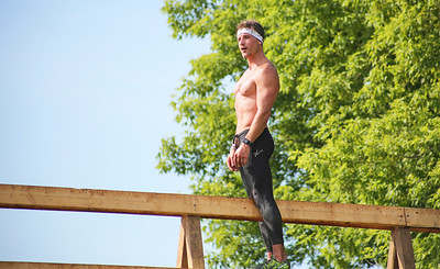Mike Greene - For Shaw Media  Third place elite finisher Ryan Kent pauses to soak in the moment during the Spartan Race: Chicago Super 2016 Saturday, June 11, 2016 at the Richmond Hunt Club in Richmond.