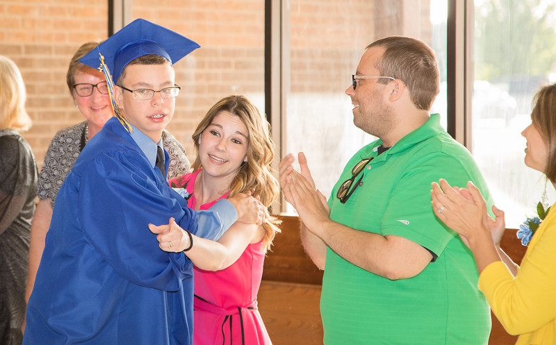 Troy Rothschild is congratulated on his graduation Friday, Jun 2, 2017 at Johnsburg High School in Johnsburg.  KKoontz – For Shaw Media
