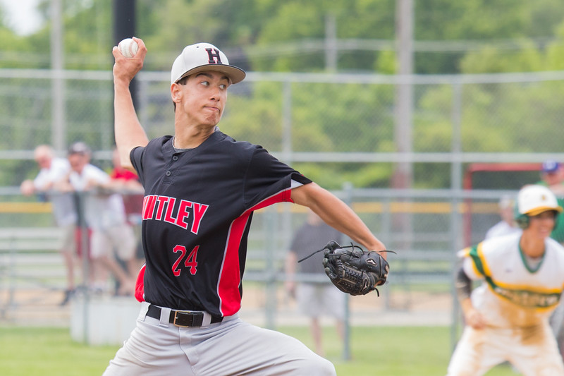 Huntley's Nicholas Laxner starts the game against Crystal Lake South Saturday, Jun 3, 2017 at Peterson Park in McHenry. Crystal Lake South went on to win the Class 4A sectional championship game 6-2. KKoontz – For Shaw Media