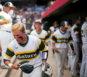 Paul Bergstrom for Shaw Media Crystal Lake South's Michael Swiatly (22) runs out onto the field for the last inning of the 4A State Semi-Final game against New Trier hosted at Silver Cross Field in Joliet.