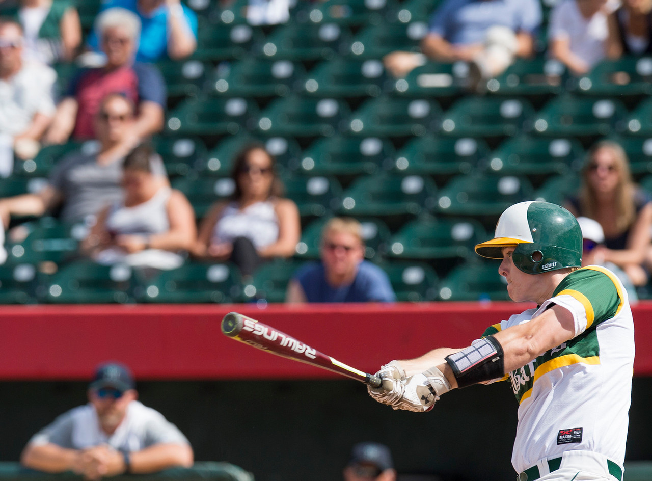 Paul Bergstrom for Shaw Media Crystal Lake South's Noah Tyrrell (10) bats a three run home run in the first inning of the 4A State Semi-Final game against New Trier hosted at Silver Cross Field in Joliet.