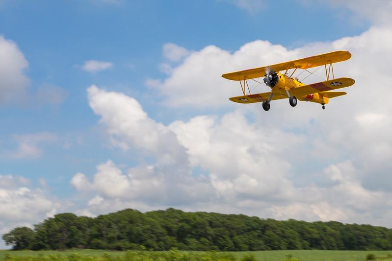 Rob Tekampe takes to the skies in his Steerman Biplane during the annual Barnstormer Days held Saturday, June 17, 2017.  Ken Koontz- For Shaw Media