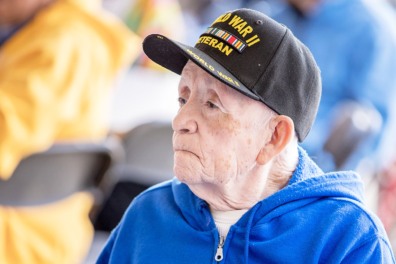 World War II veteran Raul Zuniga takes in the sights and sounds Saturday June 24, 2017, at the second annual Vets Fest in Huntley Saturday June 24, 2017.  KKoontz – For Shaw Media