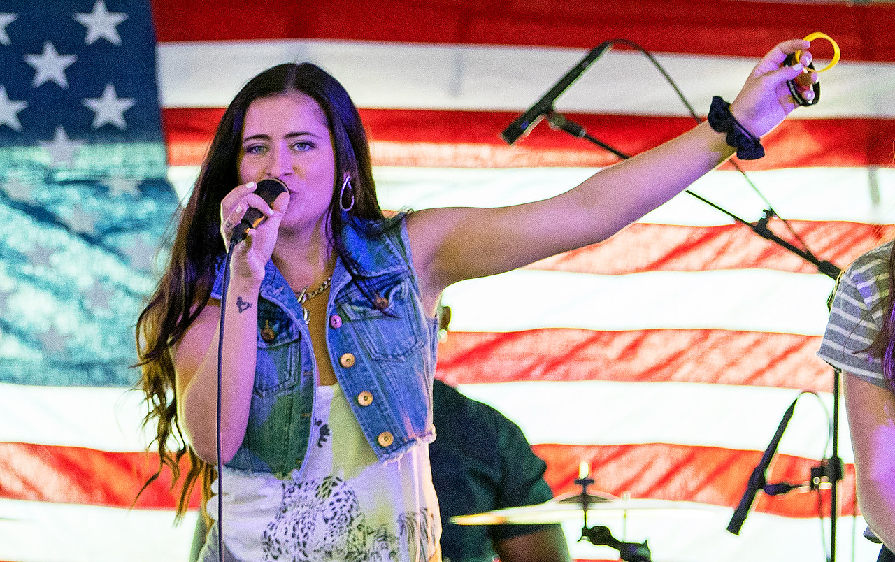 Singer Josie Treffy performs with the band Serendipity Saturday June 24, 2017, at the second annual Vets Fest in Huntley Saturday June 24, 2017. KKoontz – For Shaw Media