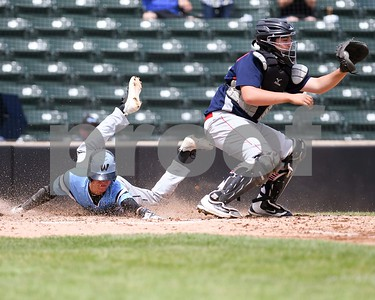 Willowbrook Mike Dembowski beats the throw and scores the only run for Willowbrook during the Class 4A baseball sectional final against South Elgin June 3 at Boomers Stadium in Schaumburg. David Toney for Shaw Media